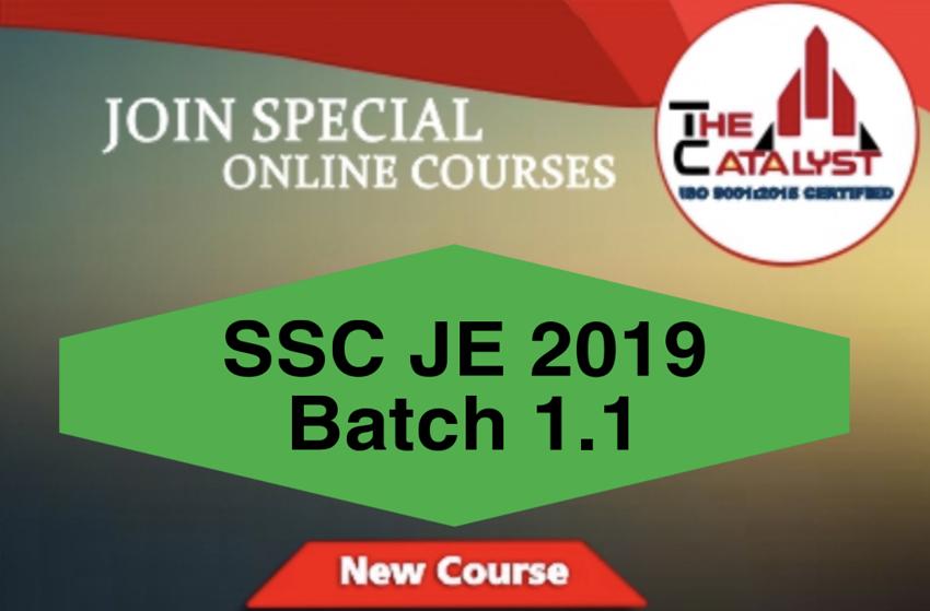 SSC JE BATCH 1.1(CIVIL)
